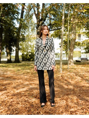 UNLINED JACKET WITH SIDE SLITS